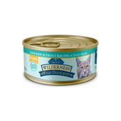 Blue Buffalo Wilderness Wild Delights High Protein Grain Free, Natural Adult Flaked Wet Cat Food, Chicken & Trout