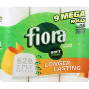 Fiora Bath Tissue, Soft Strong, Unscented, Mega Rolls, 2-Ply