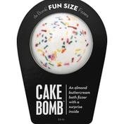 Da Bomb Bath Fizzer, Cake Bomb, Fun Size