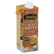 Imagine Foods Broth, Chicken, Free Range, Organic, Brick