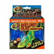 Zoo Med 2-pack 60 Watt Daylight Blue Reptile Bulb