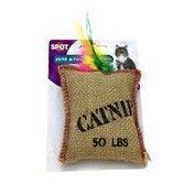 SPOT Cat Toy, Catnip, Jute & Feather Sack