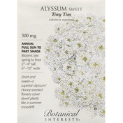 Botanical Interests Seeds, Sweet Alyssum, Tiny Tim