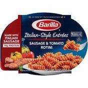 Barilla® Italian-Style Entrées Microwaveable bowls Rotini Pasta with Tomato & Sausage Sauce
