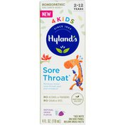 Hyland's 4 Kids Sore Throat grape flavor