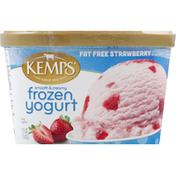 Kemps Frozen Yogurt, Smooth & Creamy, Fat Free, Strawberry