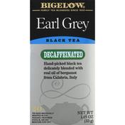 Bigelow Black Tea, Earl Grey, Decaffeinated, Bags
