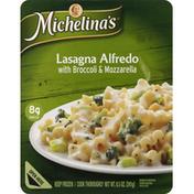 Michelina's Lasagna Alfredo, with Broccoli & Mozzarella