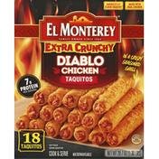 El Monterey Extra Crunchy Diablo Chicken Taquitos