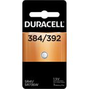 Duracell Battery, Silver Oxide, 384/392, 1.5V