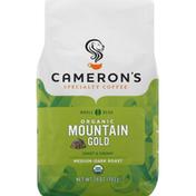 Camerons Coffee, Organic, Whole Bean, Medium-Dark Roast, Mountain Gold