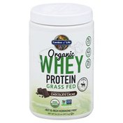 Garden of Life Whey Protein, Grass Fed, Organic, Chocolate Cacao