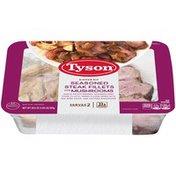 Tyson Fully Cooked Seasoned Steak Fillets with Mushrooms Dinner Kit, 20.5 oz. (