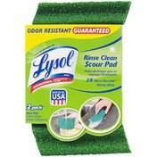 Lysol Green Antimicrobial Rinse Clean Scour Pad