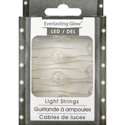 Everlasting Glow Light Strings, LED, Silver Wire, Warm White 30