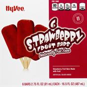 Hy-Vee Fruit Bars, Fat Free, Strawberry