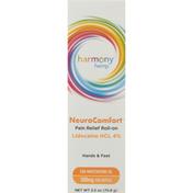 Harmony Hemp Pain Relief Roll-On, 500 mg, NeuroComfort