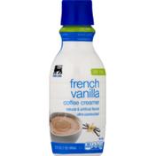 Food Lion Coffee Creamer, French Vanilla, Fat Free, Bottle
