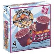 Kim & Scott's Gourmet Pretzels Frozen Novelties, 100% Juice, Strawberry Pomegranate