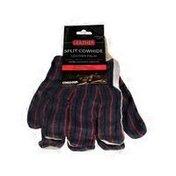 Cordova Gray Leather Palm Knit Wrist Glove