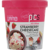 PICS Ice Cream, Strawberry Cheesecake