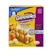 Gerber Graduates for Preschoolers Banana Peach Cereal Twists - 6CT
