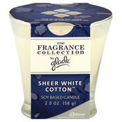 Glade Candle, Soy Based, Sheer White Cotton