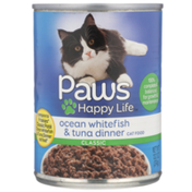 Paws Happy Life Ocean Whitefish & Tuna Dinner Classic Cat Food