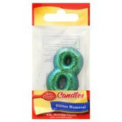 Betty Crocker Candle, Birthday, Glitter Numeral, 3 Inches