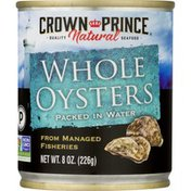 Crown Prince Whole Oysters Packed in Water