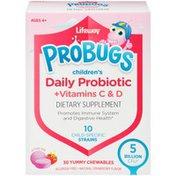 Lifeway ProBugs Children's Daily Probiotic + Vitamins C & D Strawberry Dietary Supplement
