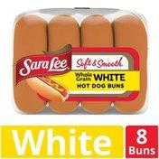 Sara Lee Soft & Smooth Whole Grain White Hot Dog Buns