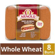 Brownberry/Arnold/Oroweat Whole Grain 100% Whole Wheat Hot Dog Buns