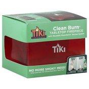 Tiki Tabletop Firepiece, Clean Burn