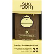 Sun Bum Sunscreen Face Stick, Broad Spectrum SPF 30