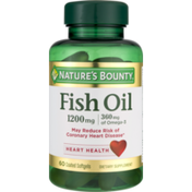Nature's Bounty Fish Oil 1200mg Dietary Supplement Softgels - 60 CT
