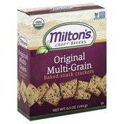 Miltons Baked Snack Crackers, Original Multi-Grain, Box