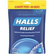 Halls Relief Mentho-Lyptus Cough Suppressant Oral Anesthetic Menthol Drops