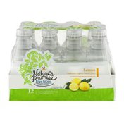 Nature's Promise Unsweetened Water Beverage Lemon - 12 PK