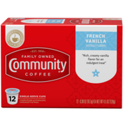 Community Coffee French Vanilla Coffee Pods for Keurig K-cups