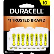 Duracell Batteries, Zinc Air, 10
