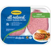 Butterball All Natural 93% Lean Turkey Burger Patties