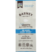 Barney Butter Almond Butter, Bare Smooth, On-the-Go, Snack Pack