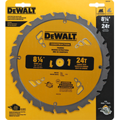 Dewalt Saw Blade, Construction, 8 1/4 Inch