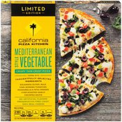 California Pizza Kitchen Crispy Thin Crust Mediterranean Style Vegetable Pizza