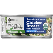 Southeastern Grocers Chicken Breast, with Rib Meat, Organic, Premium Chunk
