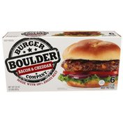 Boulder Burger Company Bacon & Cheddar Beef Patties Made With 100% Angus Beef