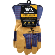 Wells Lamont Gloves, Leather Palm, Heavy Duty, Large