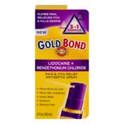Gold Bond Pain & Itch Relief Lidocaine + Benzethonium Chloride