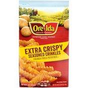 Ore-Ida Extra Crispy Seasoned Crinkles French Fries Fried Frozen Potatoes